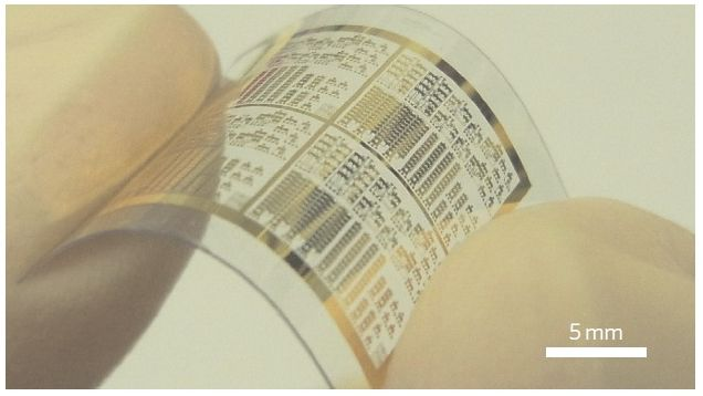 Flexible and transparent transistors made by Graphene and Carbon Nanotube tech