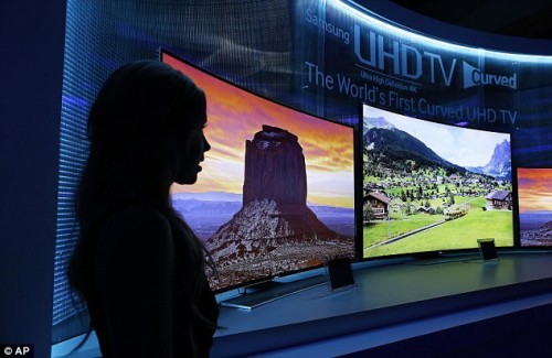 Samsung product TV with flexible screen