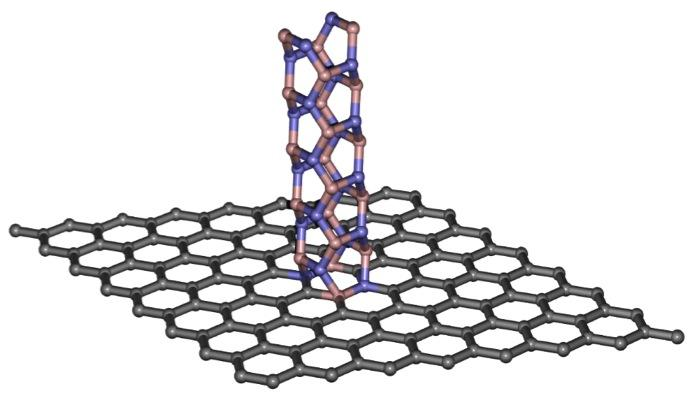 Graphene boron nanotubes chemical structures graphene (gray) and boron nitride nanotubes (pink and purple) can be used to create a digital switch at the point where the two materials contact