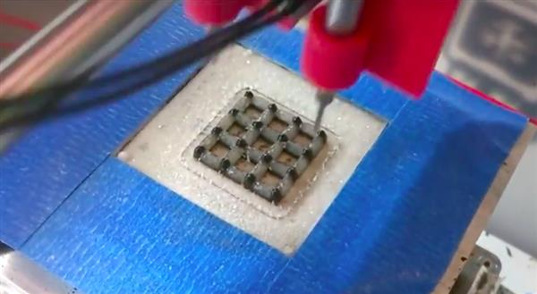 3D print manufacturing the graphene aerogel