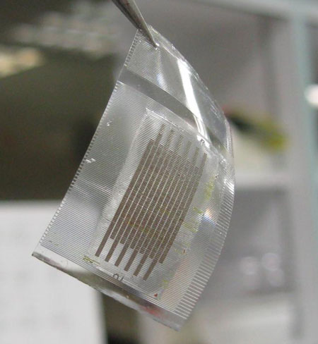 Stretchy supercapacitor made from team research