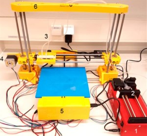 The bacteria 3D printing system