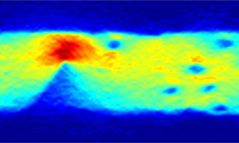 An image of the current flow in graphene, obtained using a diamond quantum sensor