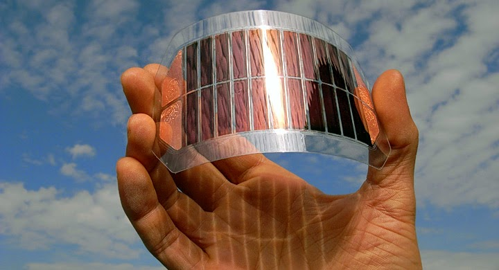 The flexible graphene solar panels