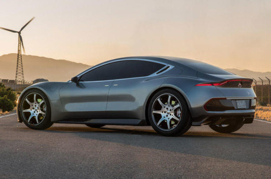 Fisker appears as sports car and environment-friendly also