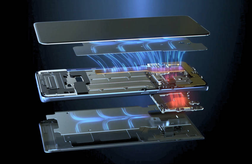A new smartphone with a graphene cooling system