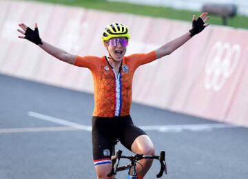 The Netherlands national cycling team was wearing a graphene supported sportswear